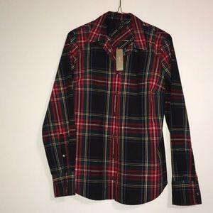J. Crew Perfect Plaid Button Down Shirt NEW